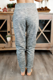 Brushed Fleece Joggers (Marled Charcoal)