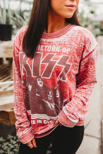 Return of KISS Long Sleeve (Crimson)
