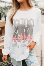 Def Leppard Heartbreak Crewneck (White)