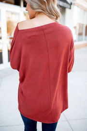Autumn Leaves Dolman Top (Brick)
