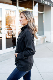 Harvest Wishes Cargo Jacket (Black)