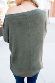 Autumn Leaves Dolman Top (Olive)