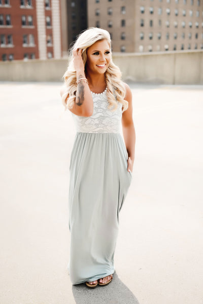 Dainty Darling Maxi Dress (Sage)