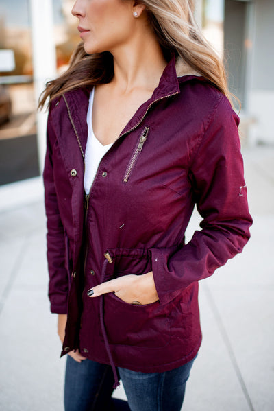 Fall Breeze Anorak Jacket (Mulberry)