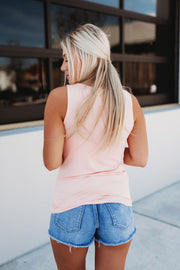 It's Time Criss Cross Tank (Peach)