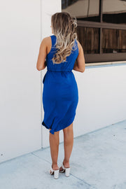 Run It Back Midi Dress (Royal Blue)