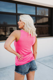 It's Time Criss Cross Tank (Bubblegum)
