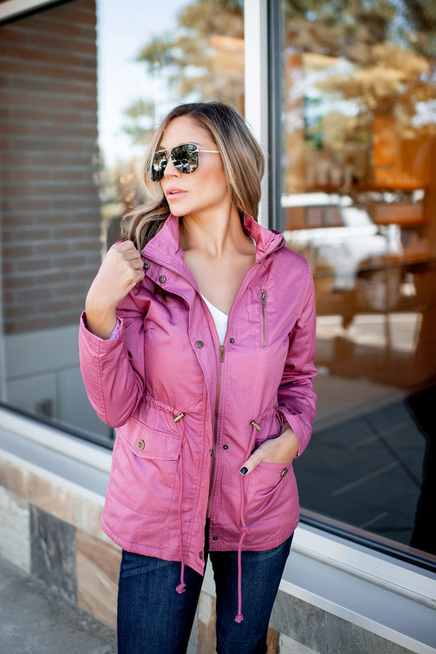 Fall Breeze Anorak Jacket (Mauve)