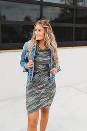 DEAL OF THE DAY: Mercedes Midi Dress (Camo)