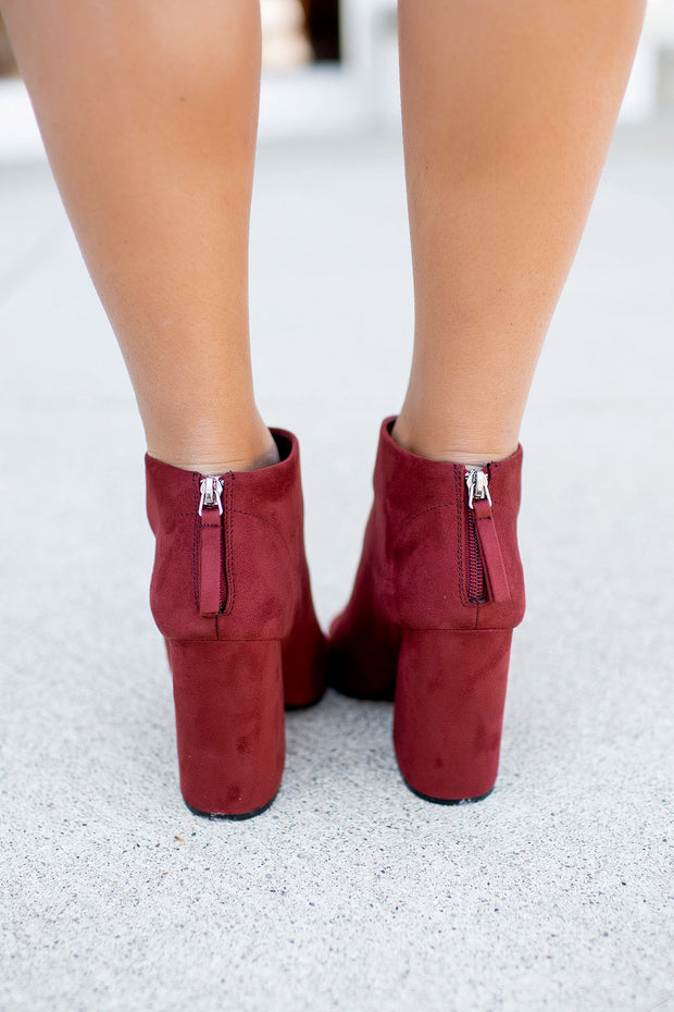 The Beth Anne Booties (Merlot)