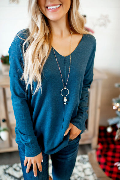 All The Good Things Sweater (Dark Teal)