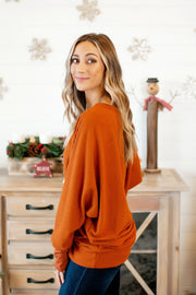 The Cartlyn Knit Tunic (Rust)