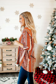 The Paisley Jane Top (Rust)