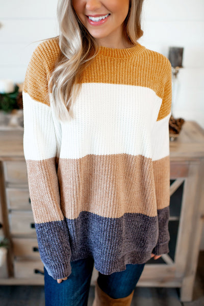 Chenille O'Neal Sweater (Mustard) FINAL SALE