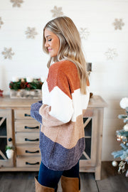 Chenille O'Neal Sweater (Rust) FINAL SALE