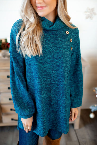 Push That Like Button Tunic (Dark Teal) FINAL SALE