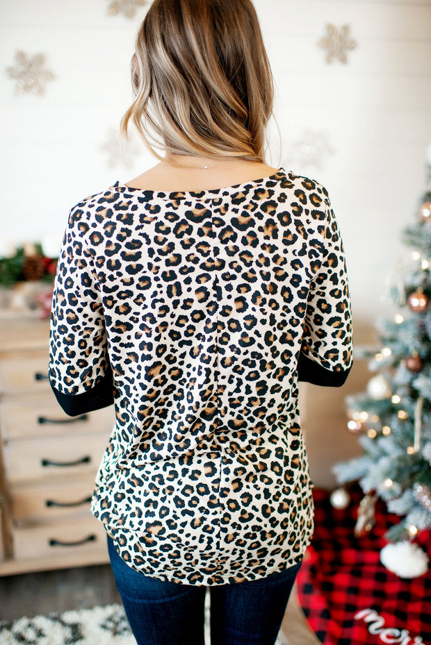 The Crossroads Top (Brown Leopard)