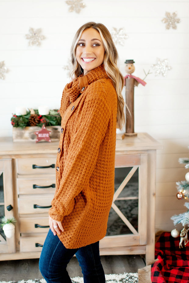 Feeling The Love Knit Sweater (Honey Brown)