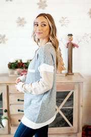 Zen Out Sweater (Grey/Taupe)