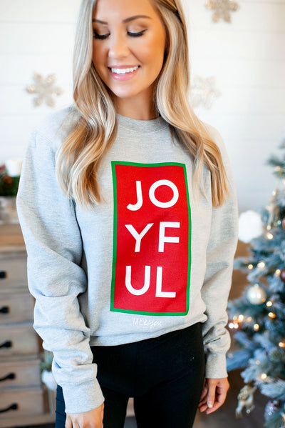 Joyful Crewneck (Grey) FINAL SALE