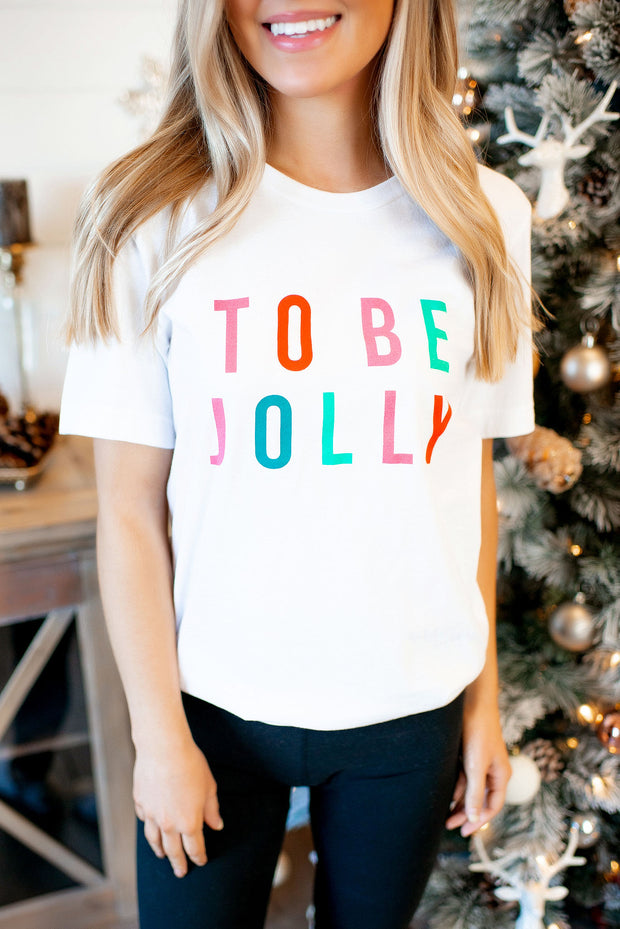 TODDLER To Be Jolly Tee (White) FINAL SALE