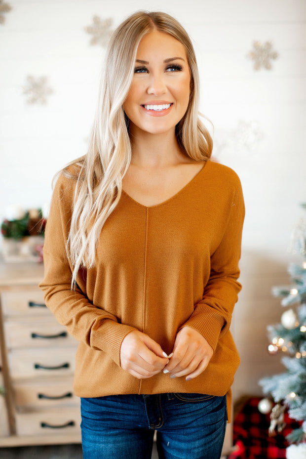All The Good Things Sweater (Dark Must) FINAL SALE
