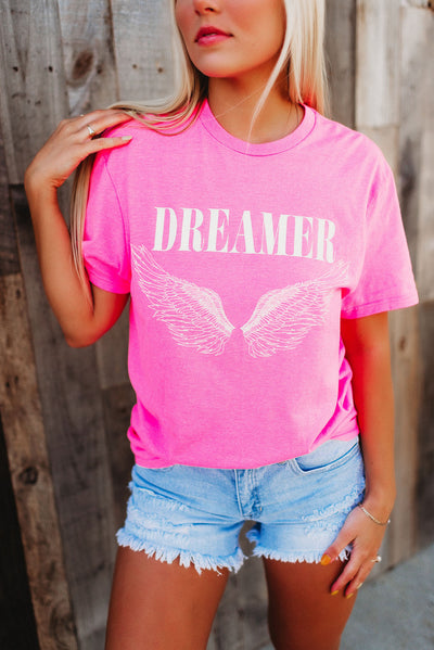 Dreamer Graphic Tee (Hot Pink)