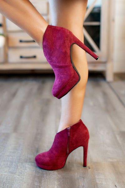 Pump It Up Heels (Burgundy)