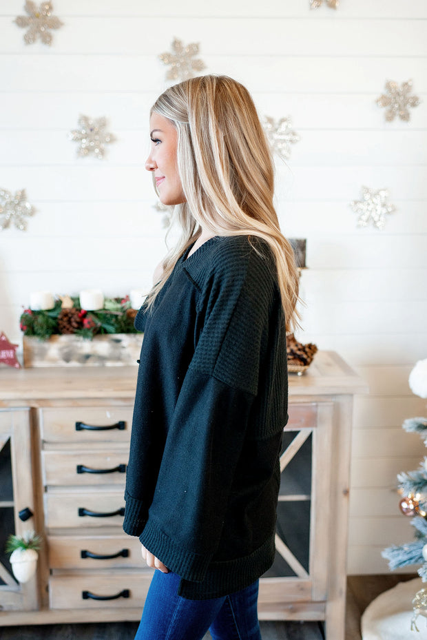 Can't Blame Me Tunic (Black) FINAL SALE