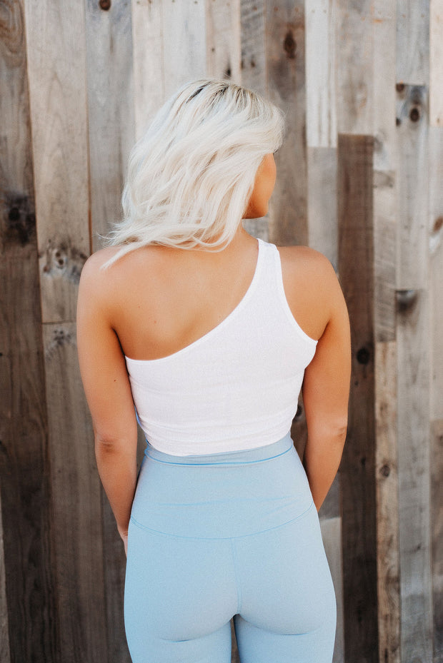 One Shoulder Crop Tanks