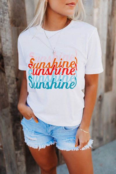 Colorful Sunshine Tee (White)