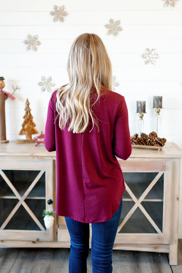 The Tina Turtleneck (Burgundy) FINAL SALE