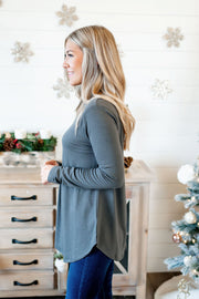 The Tina Turtleneck (Ash Grey) FINAL SALE