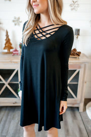 Strappy Midi Dress (Black) FINAL SALE