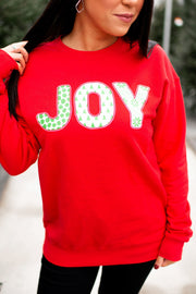 Holiday Joy Crewneck (Red) FINAL SALE