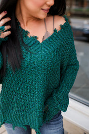 Not Your Average Knit Sweater (Teal)