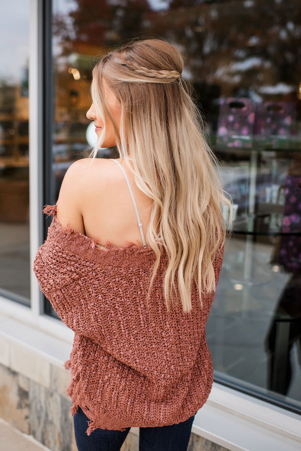 Not Your Average Knit Sweater (Camel)