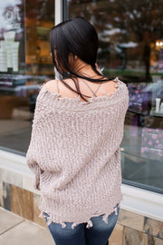 Not Your Average Knit Sweater (Mocha) FINAL SALE