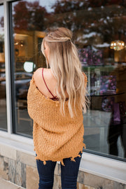 Not Your Average Knit Sweater (Mustard) FINAL SALE