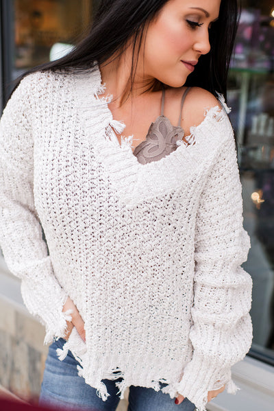 Not Your Average Knit Sweater (Ivory)
