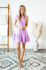 Rockin' Ruffle Dress (Lavender) FINAL SALE