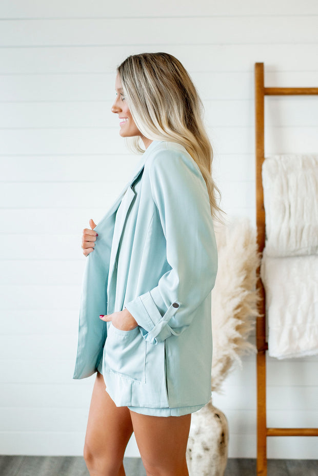 The Naomi Blazer (Seafoam)