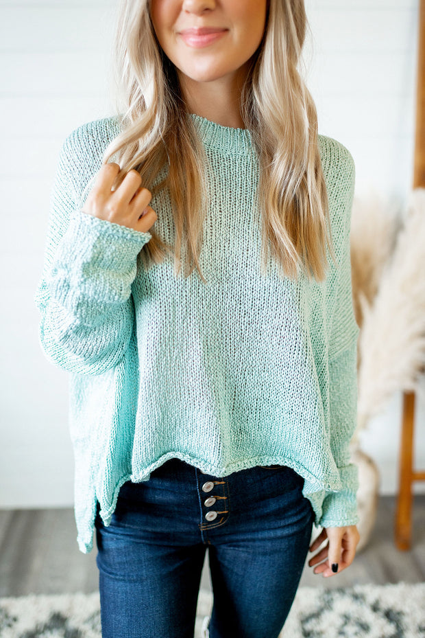 Best For Me Sweater (Mint)