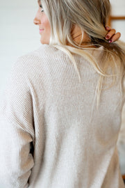 Thermal Knit Cardigan (Taupe)