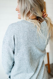 Thermal Knit Cardigan (Grey)