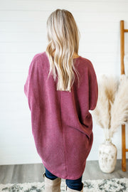 Slow Your Roll Tunic (Burgundy)