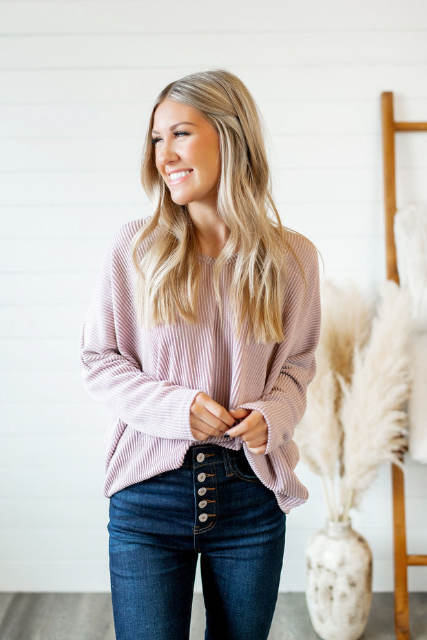 Slow Your Roll Tunic (Mauve)