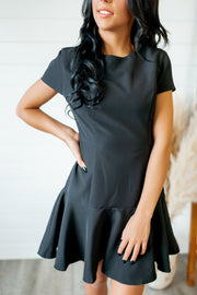 Rockin' Ruffle Dress (Black) FINAL SALE