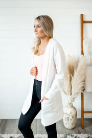 Thermal Knit Cardigan (Ivory)
