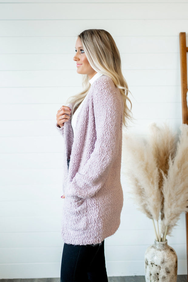 Popular Demand Popcorn Cardigan (Blush) FINAL SALE